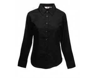 Fruit Of The Loom Lady-Fit Long Sleeve Oxford Shirt Ženska Košulja Dugih Rukava Crna 65-002-36