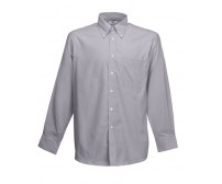 Fruit Of The Loom Long Sleeve Oxford Shirt Košulja Dugih Rukava Oxford Siva 65-114-OC